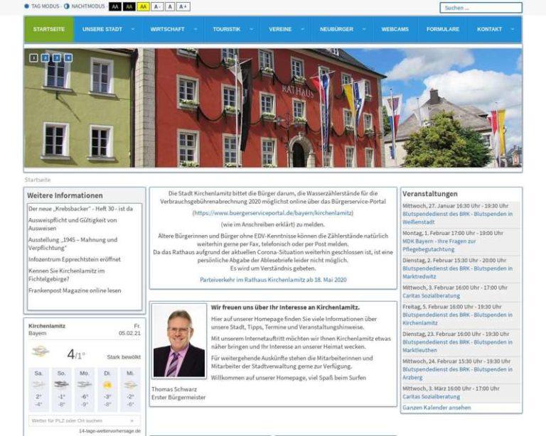Screenshot (middle) http://www.kirchenlamitz.de