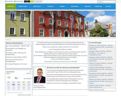 Screenshot (small) http://www.kirchenlamitz.de