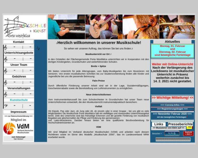 Screenshot (middle) http://www.musikschule-porta.de