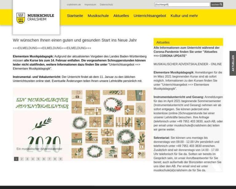 Screenshot (middle) http://www.musikschule-crailsheim.de/