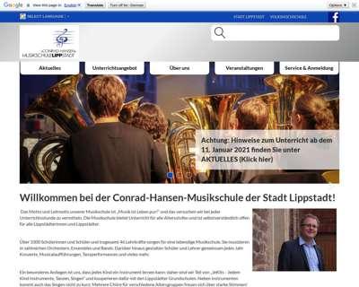 Screenshot (small) http://www.musikschule-lippstadt.de