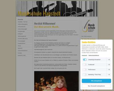 Screenshot (small) http://www.musikschule-hanstedt.de