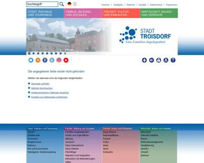 Screenshot (small) http://www.troisdorf.de/musikschule