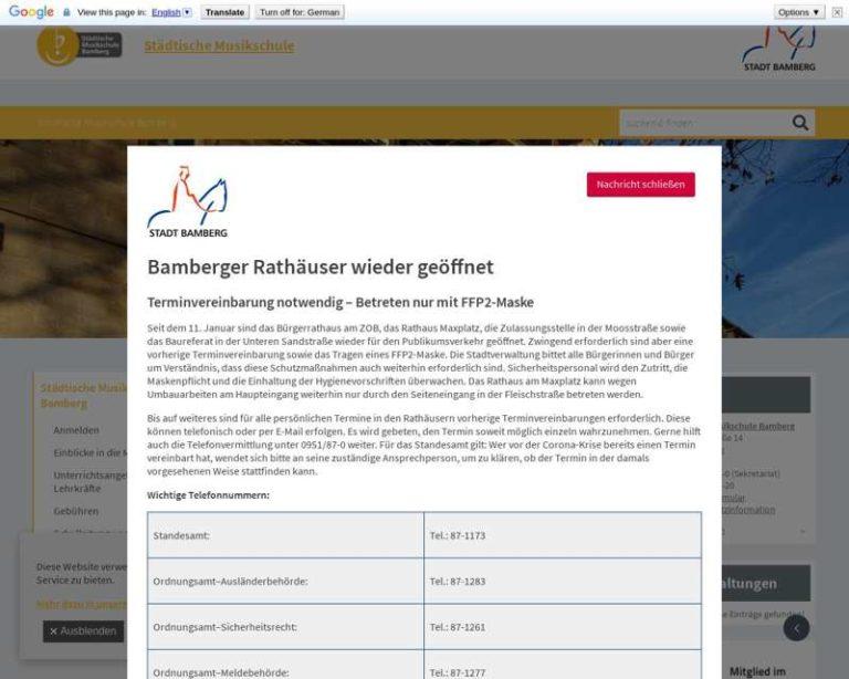 Screenshot (middle) http://www.musikschule.bamberg.de