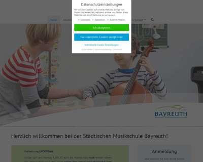 Screenshot (small) http://www.musikschule.bayreuth.de