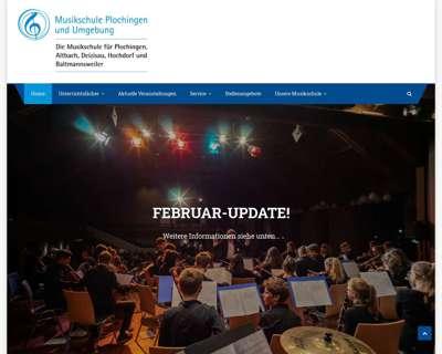 Screenshot (small) http://www.musikschule-plochingen.de