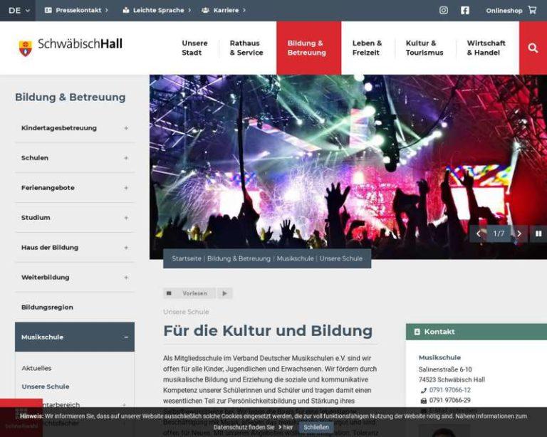 Screenshot (middle) https://www.schwaebischhall.de/de/bildung-betreuung/musikschule/unsere-schule