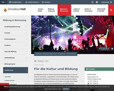 Screenshot (small) https://www.schwaebischhall.de/de/bildung-betreuung/musikschule/unsere-schule