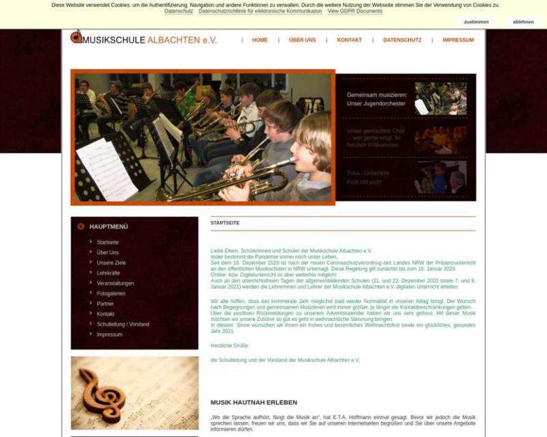 Screenshot (middle) http://www.musikschule-albachten.de