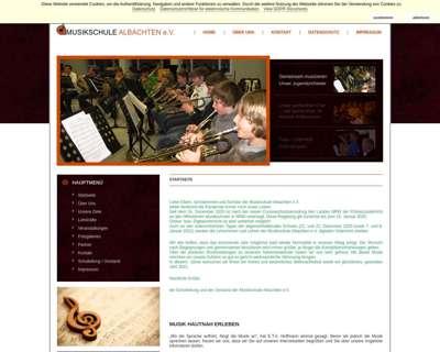 Screenshot (small) http://www.musikschule-albachten.de