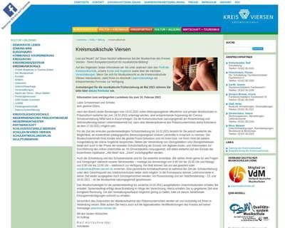Screenshot (small) http://www.kreismusikschule-viersen.de