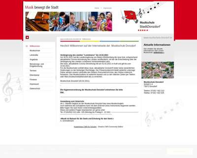 Screenshot (small) http://www.musikschule-donzdorf.de