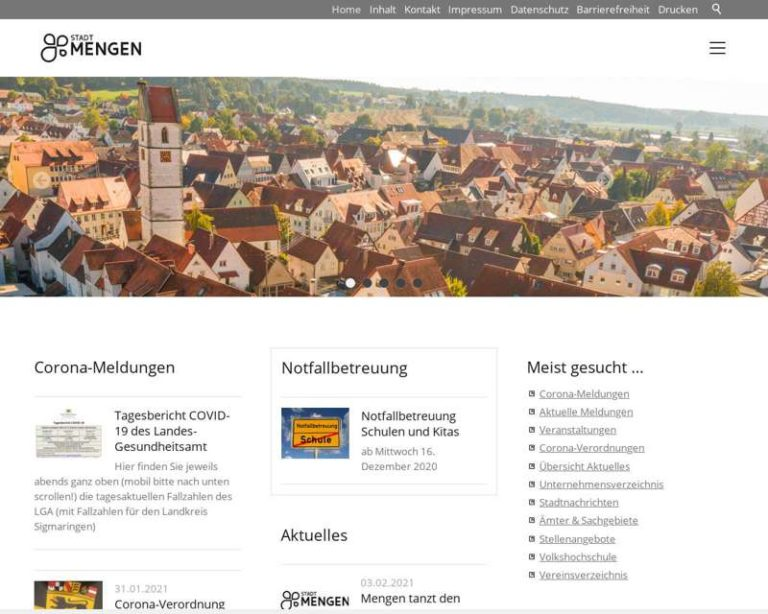 Screenshot (middle) http://www.mengen.de