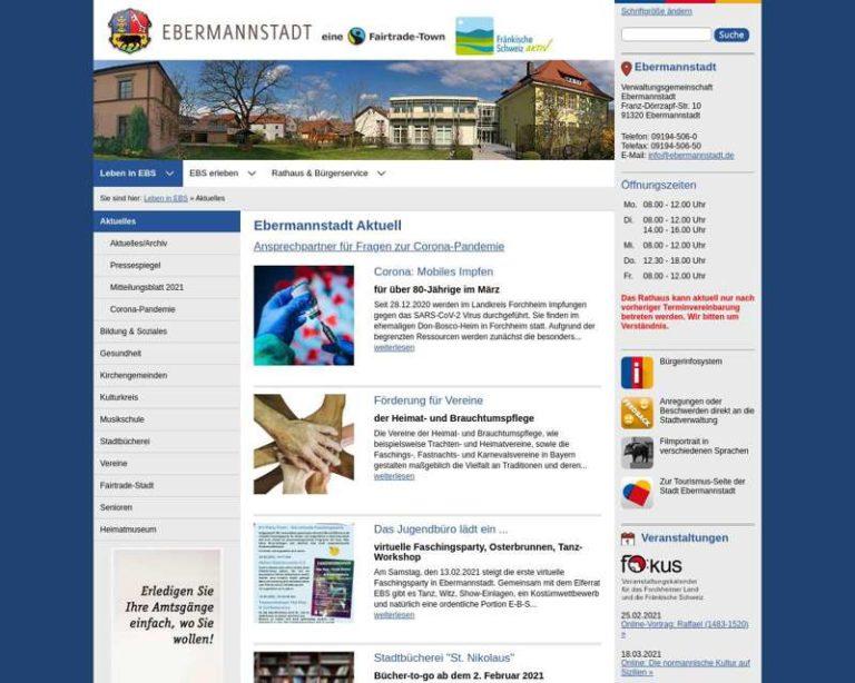 Screenshot (middle) http://www.ebermannstadt.de