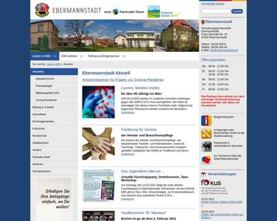 Screenshot (small) http://www.ebermannstadt.de