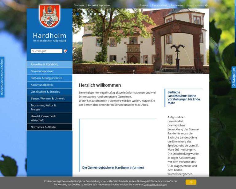 Screenshot (middle) http://www.hardheim.de
