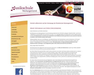 Screenshot (small) http://www.musikschule-neckargemuend.de