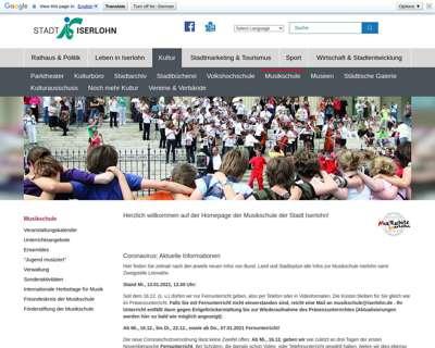 Screenshot (small) http://www.musikschule.iserlohn.de