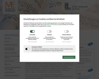 Screenshot (small) http://www.musikschule-ehingen.de