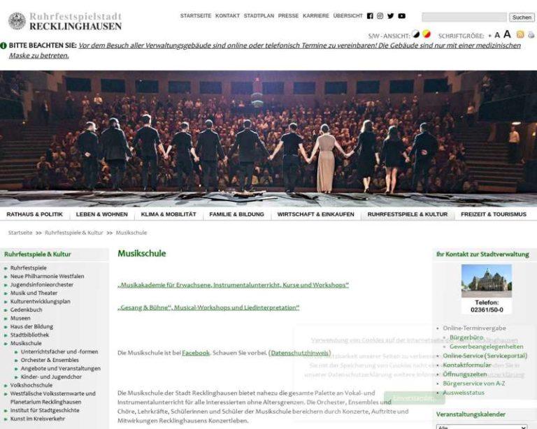 Screenshot (middle) http://www.musikschule-recklinghausen.de