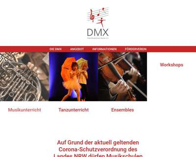 Screenshot (small) http://www.dom-musikschule.de