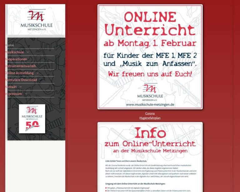Screenshot (middle) http://www.Musikschule-Metzingen.de