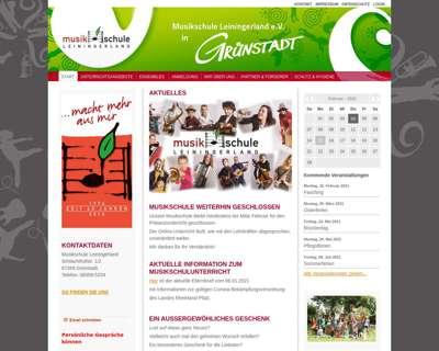 Screenshot (small) http://www.musikschule-leiningerland.de