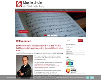 Screenshot (small) http://www.musikschule.ladenburg.de/