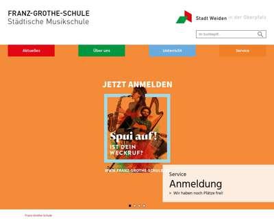 Screenshot (small) http://www.franz-grothe-schule.de