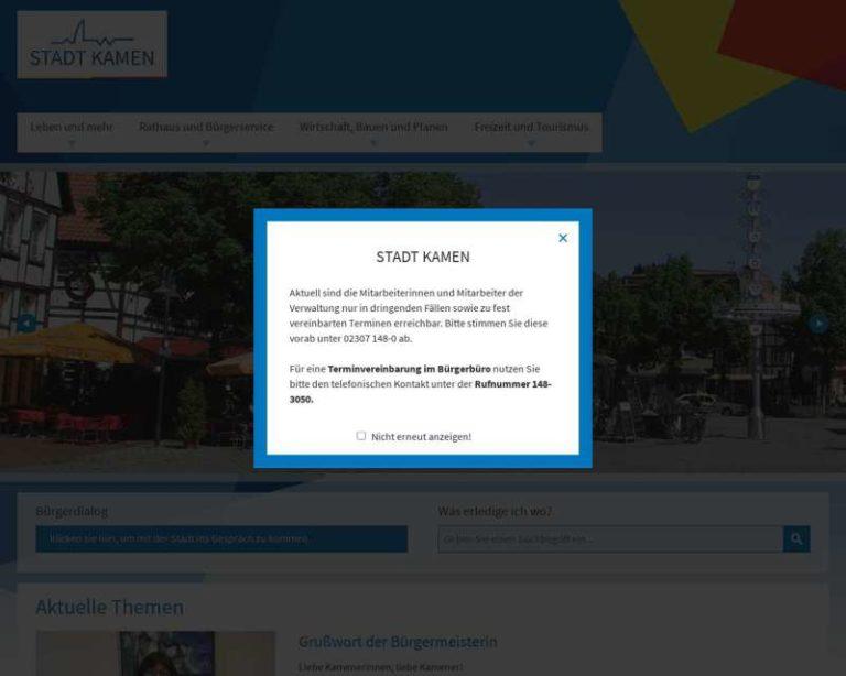 Screenshot (middle) http://www.stadt-kamen.de