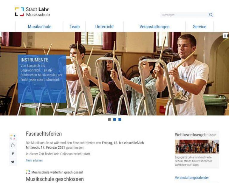 Screenshot (middle) http://www.musikschule.lahr.de