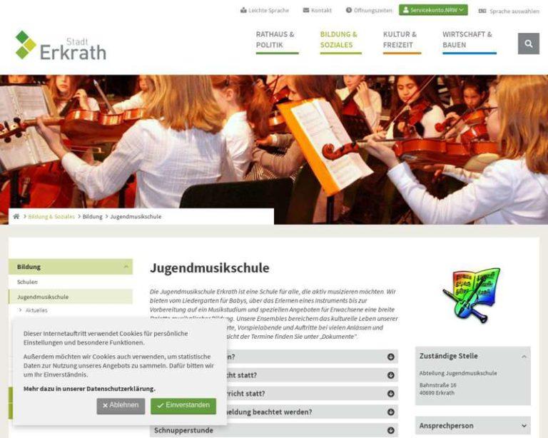 Screenshot (middle) http://www.erkrath.de/jms