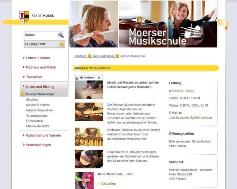Screenshot (middle) http://www.moerser-musikschule.de