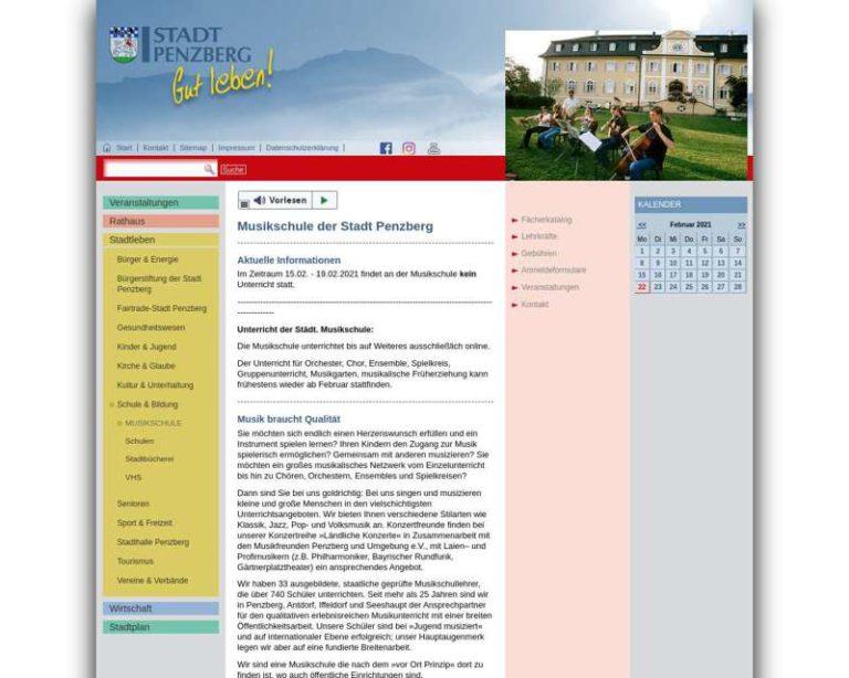 Screenshot (middle) http://www.musikschule-penzberg.de