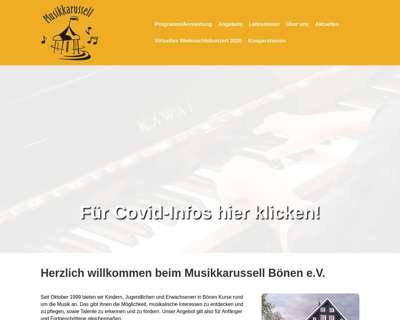 Screenshot (small) http://www.musikkarussell-boenen.de