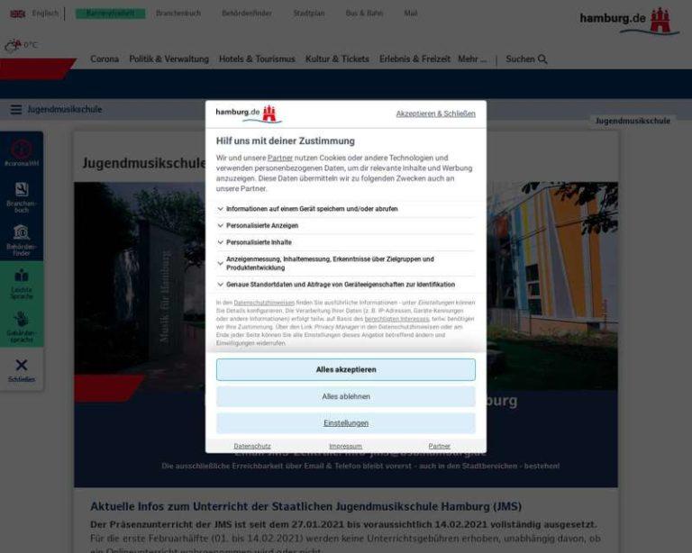 Screenshot (middle) http://www.jugendmusikschule.hamburg.de