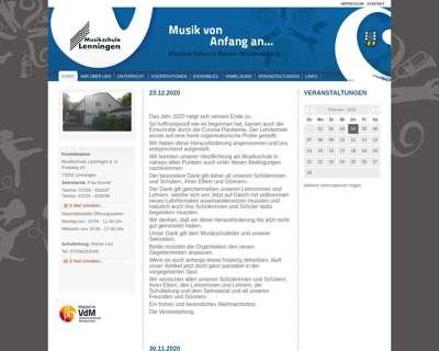 Screenshot (small) http://www.musikschule-lenningen.de