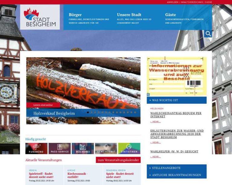 Screenshot (middle) http://www.besigheim.de