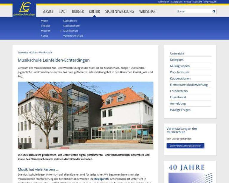 Screenshot (middle) http://www.musikschule.leinfelden-echterdingen.de