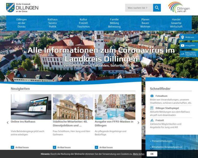 Screenshot (middle) http://www.dillingen-donau.de
