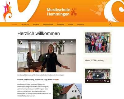Screenshot (small) http://www.musikschulehemmingen.de
