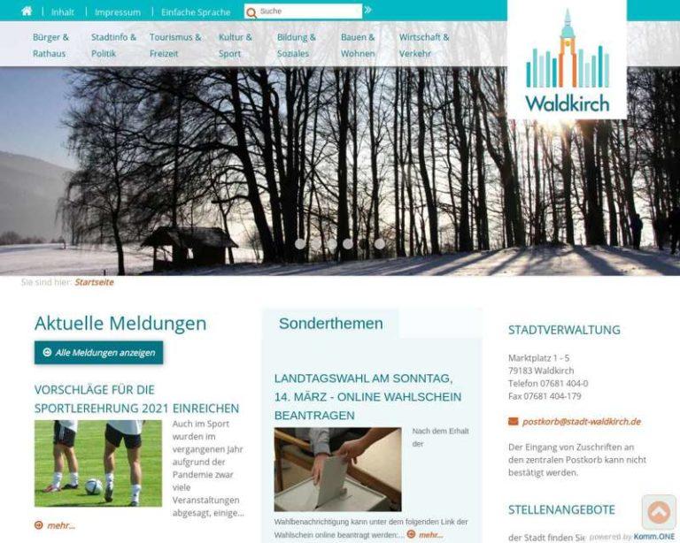 Screenshot (middle) http://www.stadt-waldkirch.de