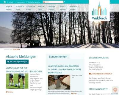 Screenshot (small) http://www.stadt-waldkirch.de