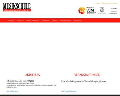 Screenshot (small) http://www.musikschule-nkv.de