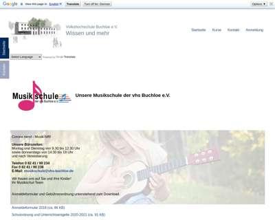 Screenshot (small) http://www.vhs-buchloe.de/musikschule