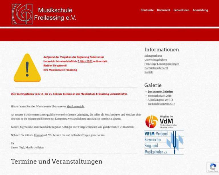 Screenshot (middle) http://www.musikschule-freilassing.de