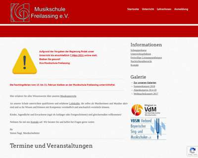 Screenshot (small) http://www.musikschule-freilassing.de