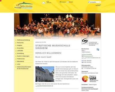 Screenshot (small) http://www.musikschule-sinsheim.de