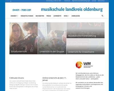 Screenshot (small) http://www.musikschule-lk-oldenburg.de