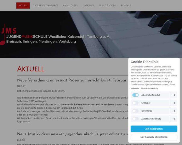 Screenshot (middle) http://www.jugendmusikschule-breisach.de